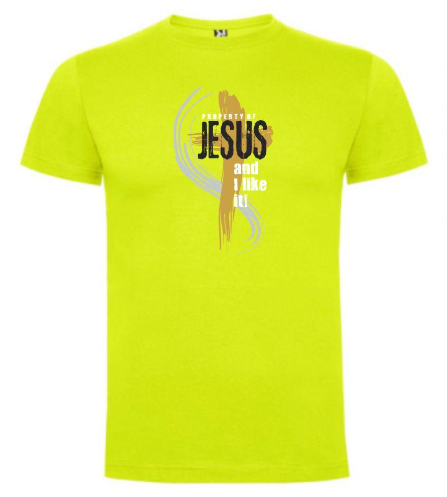 PROPERTY OF JESUS pánské triko limetková