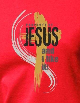 PROPERTY OF JESUS womens (fuschia)