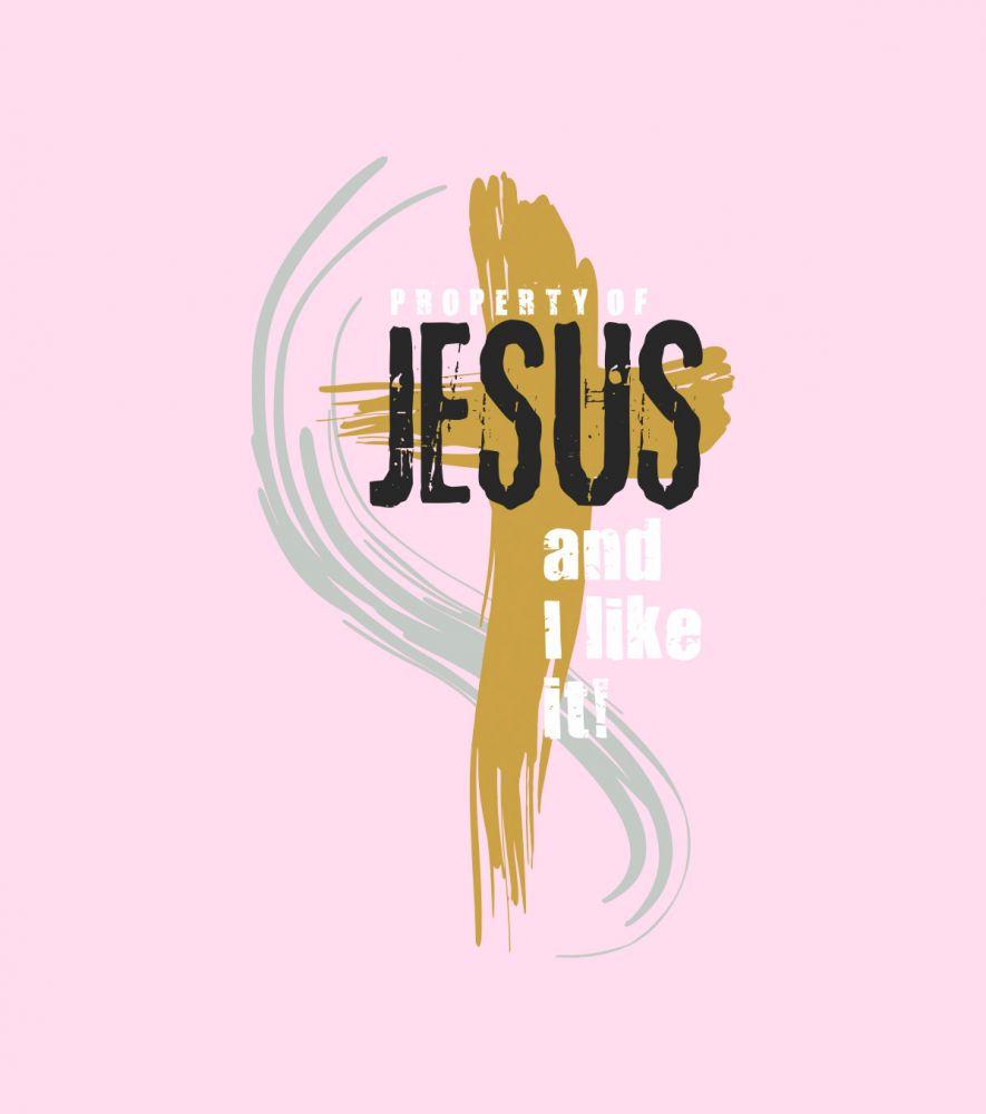 PROPERTY OF JESUS womens (light pink) 2
