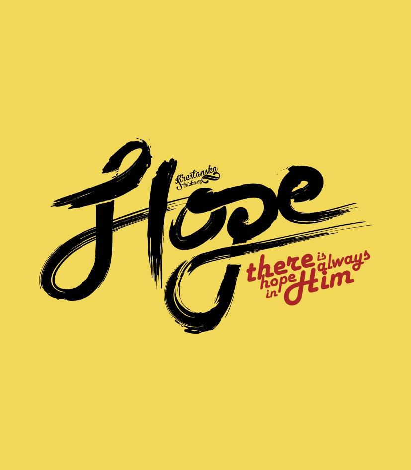 HOPE IN HIM womens (yellow)