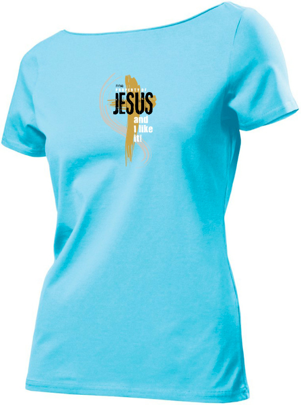 PROPERTY OF JESUS womens (sky blue)