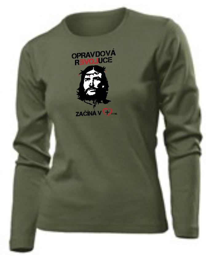REAL REVOLUTION CZ womens long sleeve (khaki)