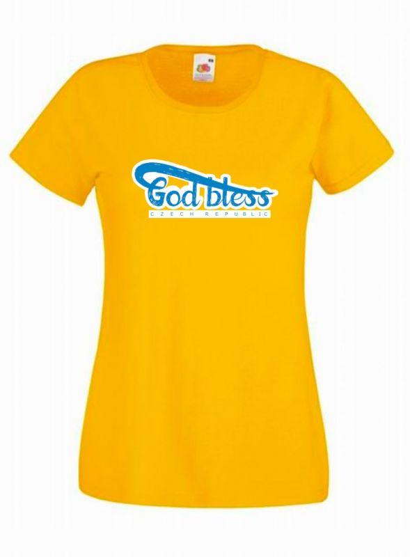 GOD BLESS CR dámské triko žluté (sunflower)
